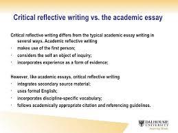 critical reflective writing critical reflective writing