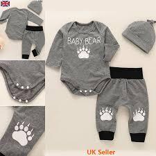 <b>Lovely Baby Child Kid Infant</b> Girl Boy Jumpsuit Pants Hat <b>3pcs</b> Outfit ...