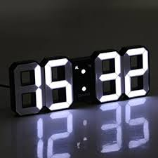 Buy Generic Snooze Function 12/24 Hour Display <b>3D LED Digital</b> ...