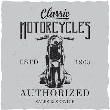 Free Vector | <b>Classic motorcycles</b> poster
