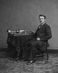 thomas edison photograph of edison his phonograph 2nd model taken in mathew brady s washington dc studio in 1878