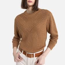 <b>Пуловер</b> с <b>круглым</b> вырезом из трикотажа с бисером <b>La Redoute</b> ...