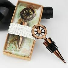<b>Compass Wine</b> Bottle Stopper Alloy Wedding Favors Souvenirs ...
