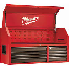 Milwaukee 46 in. 8-Drawer Steel <b>Storage</b> Top <b>Chest</b> in <b>Red</b> and ...
