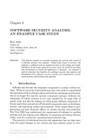 software security analysis an example case study springer inside