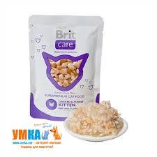 <b>Консервы Brit Care Cat</b> Chicken & Cheese Kitten курица и сыр для ...
