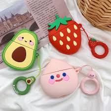For AirPods <b>Case</b> Cute Strawberry Avocado Peach <b>Pineapple</b> Fruit ...