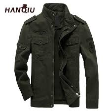 HANQIU Brand M 6XL Bomber <b>Jacket Men Military</b> Clothing 2019 ...