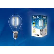 Светодиодная <b>лампочка Uniel LED</b>-G45-6W AIR UL-00002207 в ...