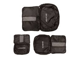3 set packing cubes travel luggage organizers with laundry bag grey red green overnight duffle bags weekend