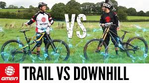Trail Bike Vs Downhill <b>Mountain Bike</b> | The Challenges - YouTube
