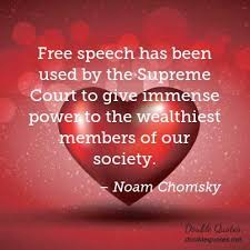 Free speech has been used by the Supreme Court to give immense ... via Relatably.com