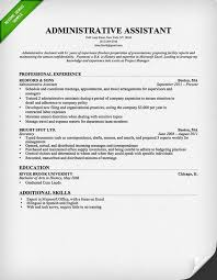 Cover Letter  Administrative Assistant Resume With Professional Experience As Secretary And Education In Bachelor Of