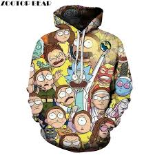 Cartoon <b>Printed Hoodies</b> Mens <b>Hoody</b> 3D <b>Rick and</b> Morty ...