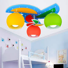 ceiling lights with 3 heads for baby boy girl kids bedroom ceiling lamps children room art decor led home lighting decoration children bedroom lighting