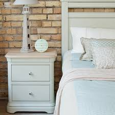 Lyon Oak Bedroom Furniture Painted Oak Large 2 Drawer Bedside Chest Lyon Bedroom Furniture