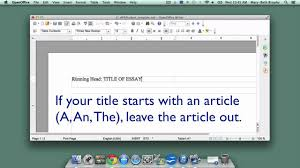 creating an apa style title page in openoffice writer creating an apa style title page in openoffice writer