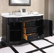 traditional style antique white bathroom:  legion  inch double sink bathroom vanity white top