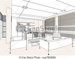 interior office room csp7840060 art drawing office