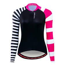 <b>WOSAWE Female Cycling Jersey</b> Long Sleeves Road Cycling ...