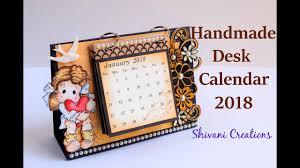 How to make Desk Calendar/ <b>Handmade</b> Calendar <b>2018</b>/ Quilled ...