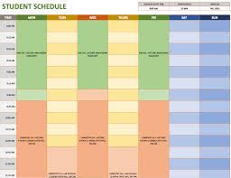 weekly schedule templates for excel smartsheet student schedule template