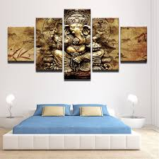 Modern <b>HD</b> Printed Canvas <b>Posters Home Decor</b> 5 Pieces India ...