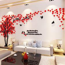<b>3D Big Tree</b> Acrylic Wall Sticker Living Room Decal Mural Art Home ...