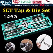 <b>12Pcs</b>/Set Metric Hand <b>Tap Die Set</b> M3-M12 Screw <b>Thread</b> Plugs ...