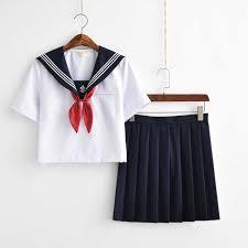 Hot Sale <b>Japanese</b> Schoolgirl Uniforms Navy <b>Sailor School</b> Uniform ...