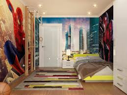 comely superhero bedroom wall theme charming boys bedroom furniture spiderman