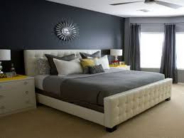 BedroomIndustrial Gray Bedroom With White Track Lights Also Metal Shelving And Trunk Bench Amazing  R