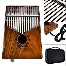<b>17 Keys</b> EQ Kalimba Acacia <b>Thumb</b> Piano Link Speaker Electric ...