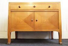 antique vintage art deco style light oak side cupboard millinary cabinet art deco era furniture