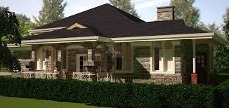 Arch Porch Bungalow House Plan   David Chola   Architect    bedroom bungalow house plan by architect in Kenya