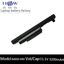 HSW <b>rechargeable laptop battery for</b> HASEE A3222 H54 A460 P60 ...