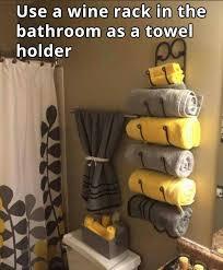 bathroom decor ideas unique decorating: wine rack for a towel rack ideas for bathroomsbathrooms decorbathroom