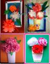 Букет цветов из салфеток фото