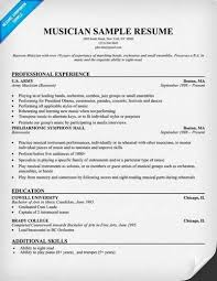 musician resume objectivemusician resume template source