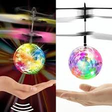 Magic Electric Infrared Sensor <b>Flying</b> Ball Helicopter <b>LED Light</b> Toy ...