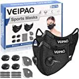 kungfuren 3 Sets Sports <b>Cycling</b> Masks with <b>Activated Carbon</b> Filter