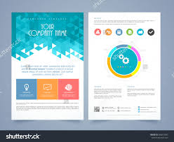 creative two page business flyer template stock vector  creative two page business flyer template or brochure design different infographics