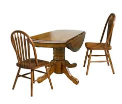 three piece dining set: three piece drop leaf table and chair dining set