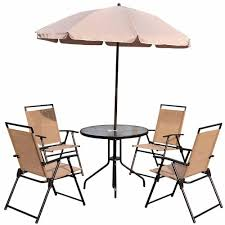 Outsunny <b>6</b>-Piece Metal Round Outdoor <b>Dining Furniture</b> Set and ...