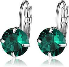 Designer Inspired Luxury Swarovski Crystal Silver ... - Amazon.com
