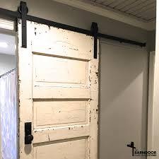 Sliding Barn Doors The Single Track Bypass Barn Door Hardware Kit Allows Two Doors To