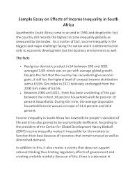 essay on africa  doitmyfreeipme sample essay on effects of income inequality in south africasample essay on effects of income inequality