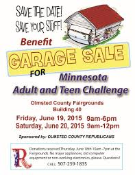 garage for charity republican party of olmsted county garage flyer