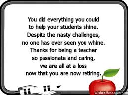 Teacher Retirement Quotes. QuotesGram