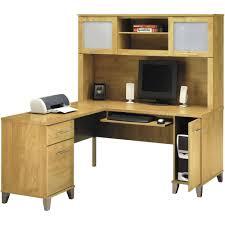 bush somerset 60 l shaped computer desk and hutch set walmartcom bush saratoga computer desk